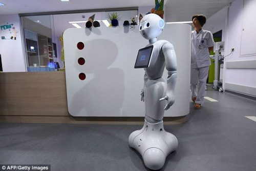 Can I help you? This robot receptionist called Pepper can!